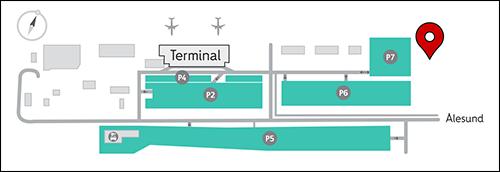 Ålesund Lufthavn Vigra--Hentes på Jetpak/Tyrholm og Farstad